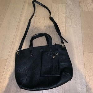 Black leather bag from urban outfitters